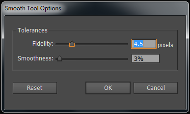 illustrator smooth tool options