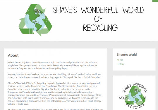 Shane's Wonderful World of Recycling