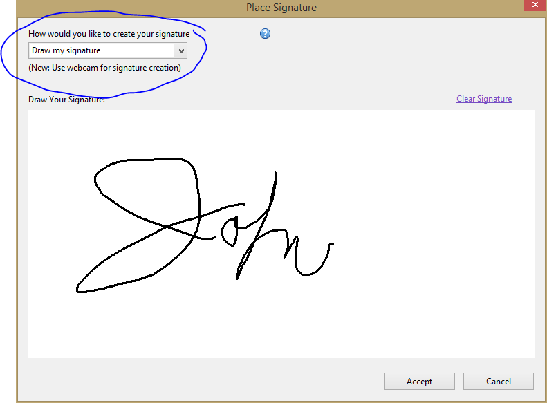 draw signature adobe reader
