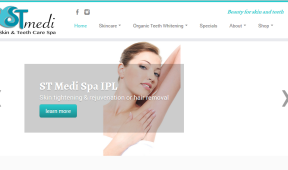 STMediSpa Teition Solutions web design