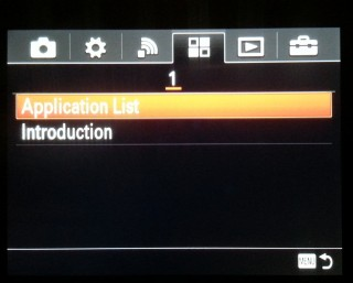 Sony-Alpha-Application-Menu