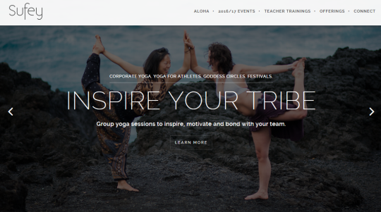 Sufey Yoga Teition Solutions web design