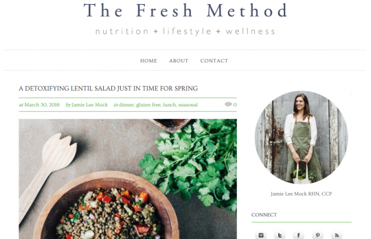 the Fresh Method web design Teition Solutions